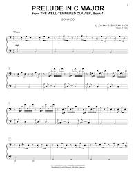 bach sheet music piano prelude in c major sheet music direct