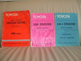 Toyota 5M-E engine manual on the bay