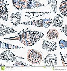 Seashell Design Seashell Seamless Pattern Stock Vector Illustration Of Collection