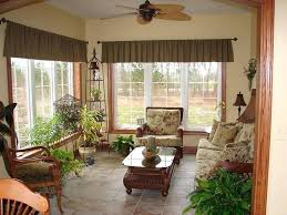 Florida room furniture Room Decorating Florida Room Window Bay With Top Window Drapes Classic Furniture In Wood Material Glass Top Table Pinterest Florida Room Gruverweatherserviceinfo