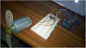 control a dc motor an arduino below is a photo of the set up