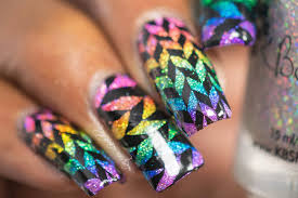 Lacquer Lockdown: Holographic Sharpie Rainbow Geometric Nail Art + ...