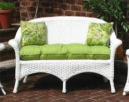 veranda resin wicker loveseat with seat