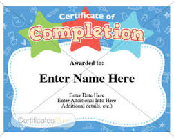 certificates of completion for kids school certificate etsy