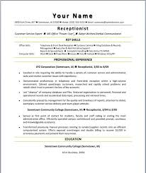 automotive receptionist resume samples of receptionist resumes