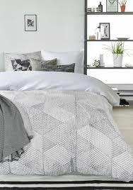 Bedding House - Celi Grey Cotton Quilt Cover Set - Queen Bed - Grey -  Scandinavian Home - Onceit