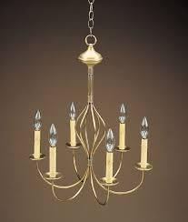 ccl964 six light j arm bulge brass chandelier