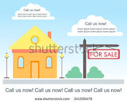 home for sale template vector template advertisement about house sale stock vector