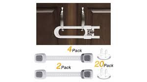 Sliding Cabinet Locks 4pack U Shape Child Baby Proofing Safety