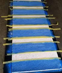 painted stripes on carpet runner cheryl simmons