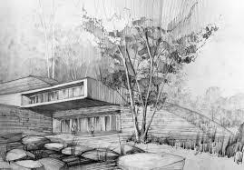modern architecture blueprints. Modern Architecture Sketches Blueprints U