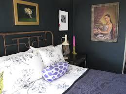 cozy blue black bedroom. Farrow \u0026 Ball Blue Black Paint In My Old Sausalito Bedroom Cozy B