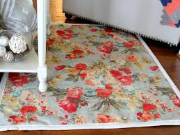 how to make a rug from upholstery fabric