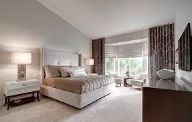 white modern master bedroom. Bedrooms:Modern Master Bedroom With Cream Modern Bed And White Dark Wood Nighstands Also R
