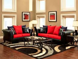 Bedroom : Pleasing Red Black And White Living Rooms Room Design