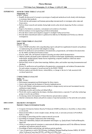 security clearance resume example cyber threat analyst resume samples velvet jobs