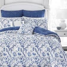 laura ashley elise navy 7 piece comforter set c551fb01 c746 4c75 ab33 272611965f3ds home design blue luxury white