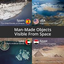 Man-Made Objects Visible From Space - Smart Meme - ... via Relatably.com
