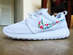 Floral Design Shoes For Ladies Womens Custom Nike Roshe Run Sneakers Floral Design All
