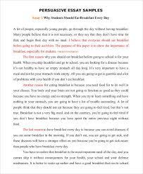 Essay Persuasive Examples Persuasive Speech Example Writing A Persuasive Essay