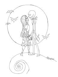The Nightmare Before Christmas Coloring Pages Printable Coloring