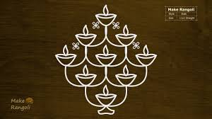 Step By Step Kolam Designs With Dots Diwali Rangoli Designs And Patterns With Dots For