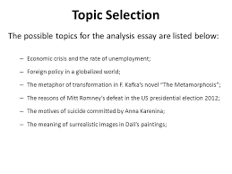 analysis essay lecture recap what is cause effect essay the  topic selection the possible topics for the analysis essay are listed below economic crisis