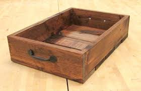 Wooden Crate With Handles Hand Made Rustic Wooden Crate With Handles Made From Reclaimed