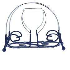 Napkin In Glass Design Wire Napkin Holders For Kitchen Wine Glass Design Blue