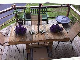 wooden pallet patio furniture. furniturespatio decor with wooden pallet table and vintage chairs on wood flooring 18 diy patio furniture