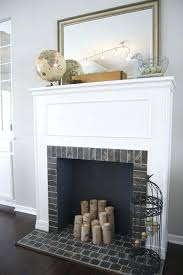 build fireplace mantels building surround over brick laying faux mantel