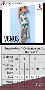 Venus Blue Floral Plunge Lace Up Maxi Dress Venus Blue