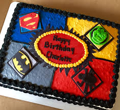 superhero sheet cake superhero cake superman batman spider man and hulk sheetcake