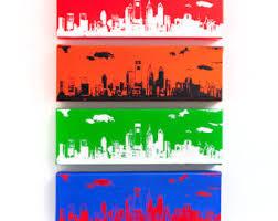 philadelphia skyline canvas philly sports edition iii 12 x 4 inches each city skyline art on philly sports wall art with philadelphia skyline ultimate sports edition 5 canvas 12 x 4
