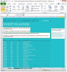 Event Planner Excel Free Community Event Planner Template For Excel