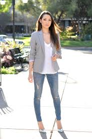 Light Gray Blazer Womens Gray Jacket 42 Photos With What To Wear Female Models