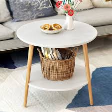 creative round coffee table bedside