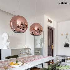 tom dixon copper mirror glass ball pendant light hanging lamp chandelier 40cm