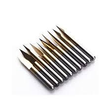 Autek <b>10x</b> Titanium Coated <b>Carbide PCB</b> Engraving CNC Bit Router ...