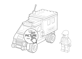 Lego Police Car Coloring Page For Kids Printable Free Lego