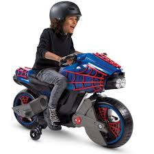 Marvel Spider-Man 6V <b>Battery</b>-<b>Powered Motorcycle Ride</b>-On Toy by ...