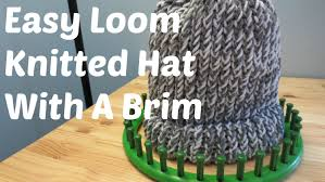 Loom Hat Patterns Adorable Easy Loom Knitted Hat With A Brim YouTube