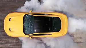 ford mustang top view. ford mustang (2018) line-lock for awesome burnout [youcar] top view g