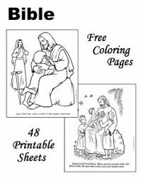 Free Printable Bible Coloring Pages For Children Story Sheets