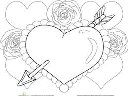 Small Picture Heart And Roses Coloring Pages Heart And Roses Coloring Pages