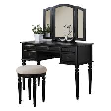 poundex bobkona black makeup vanity