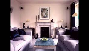 room blue living art small deco couch carpet white walls modern apartment style apart ideas house