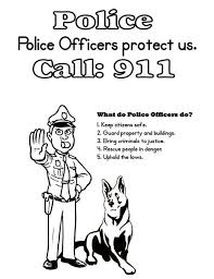Police Officer And K Dog Coloring Page Police Officer And K Dog