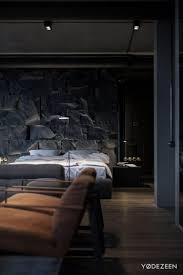 Wandgestaltung Mit Steinwand Im Schlafzimmer Ein Apartment In Kiew