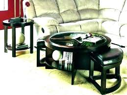 hammary coffee table coffee table with nested ottomans coffee table with nested ottomans hammary promenade round coffee table